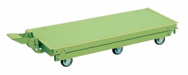 【直送】【代引不可】サカエ(SAKAE) 作業台オプションペダル昇降台車(6輪車) KTW-127Q6DPS