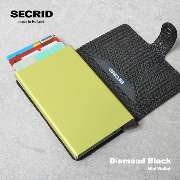 SECRID セクリッド ミニウォレット Mini Wallet ダイアモンド DIAMOND BLACK 財布 カードケース スキニング防止 マネークリップ キャッシ