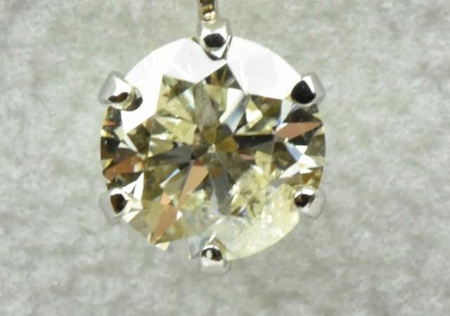 【鑑別】プラチナ 一粒 0.6ct ダイヤモンド ネックレス