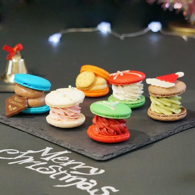 クリスマス 限定 太っちょ マカロン トゥンカロン 韓国マカロン スイーツ 個包装 6個入 送料無料 かわいい おしゃれ 人気 クリスマスケー