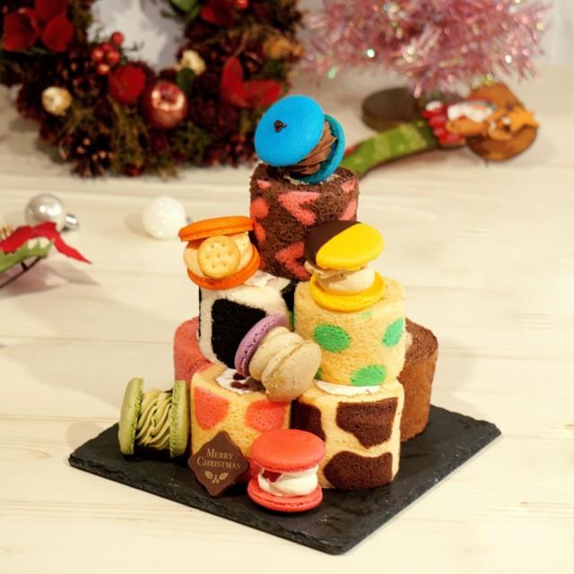マカロン トゥンカロン ロールケーキ ミニロール クリスマス 送料無料 2点セット 韓国マカロン 太っちょ マカロン 韓国 スイーツ クリス