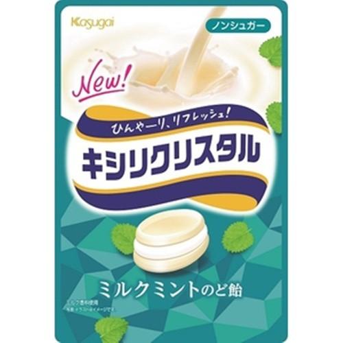 【常温便】【6入り x 1】 春日井 キシリクリスタル ミルクミントのど飴71g