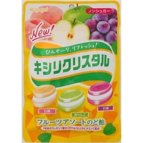 【常温便】【6入り x 1】 春日井製菓 キシリクリスタル フルーツアソートのど飴