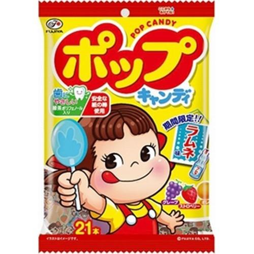 【常温便】【6入り x 1】 不二家 ポップキャンディ袋 21本