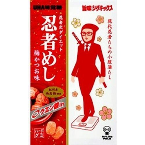 【常温便】【10入り x 1】 味覚糖 旨味シゲキックス忍者めし梅かつお味 20g