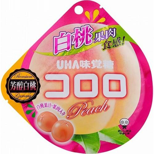【常温便】【6入り x 1】 味覚糖 コロロ 白桃40g