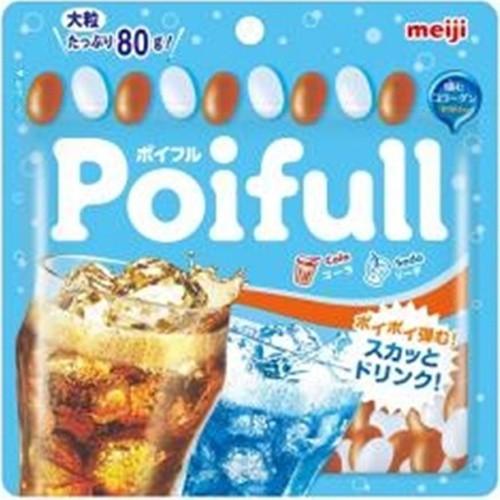 【常温便】【10入り x 1】 明治 大粒ポイフルパウチ コーラ&ソーダ80g
