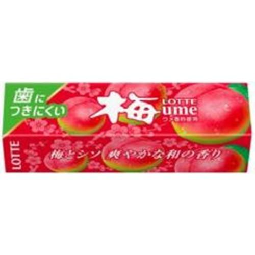 【常温便】【15入り x 1】 ロッテ 歯につきにくい梅ガム 9枚