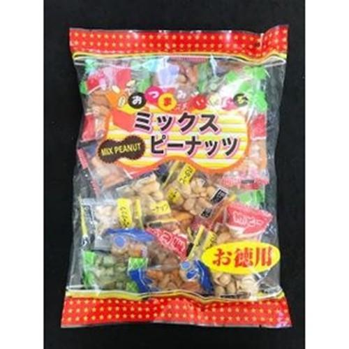 【常温便】【10入り x 1】 久慈食品 おつまみいろいろミックスピーナッツ 300g