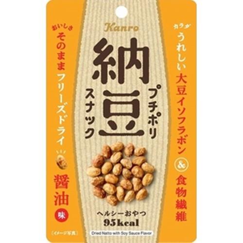 【常温便】【10入り x 1】 カンロ プチポリ納豆スナック醤油味 20g