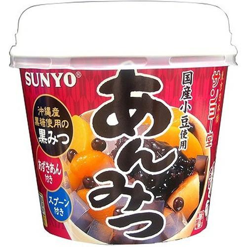 【常温便】【6入り x 1】 サンヨー カップあんみつ(黒みつ)260g