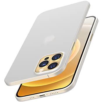 TOZOのiphone 12 mini ケース 5.4インチ 超軽量ハードカバー 超薄型[0.35mm] 世界最薄の保護ケース アイフォン 12 ミニ カバー ホワイト
