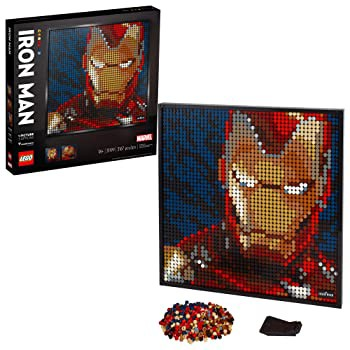 LEGO Art Marvel Studios Iron Man 31199 Building Kit for Adults; A Creative Wall Art Set Featuring Iron Man That Makes an Awesome
