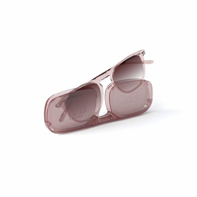 DINOコレクション 偏光サングラス 男女兼用 100%UV保護 コンパクトケース付き カラー: ピンク