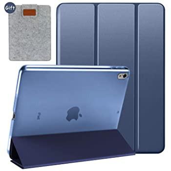 Utryit iPad 10.5インチ用ケース 三つ折り スリム 軽量 PCケース 自動スリープ/ウェイク機能付き 半透明 つや消しハードバックカバー iPa