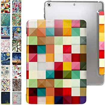 iPad 9.7 ケース 2013 iPad Air 第1世代 スリムフィット デュアルエンジェルスタンド ハードPC クリアバック [保護スマートカバー] 9.7イ