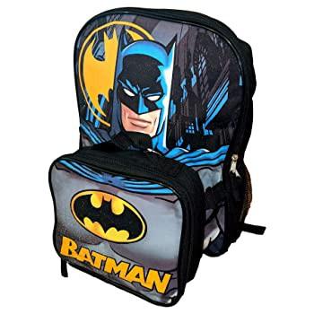 DC Comics バットマン 16インチ バックパック 断熱ランチボックス付き