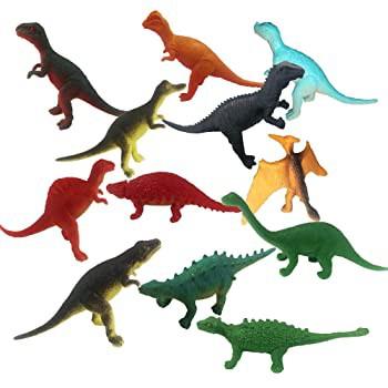ArtCreativity ミニ恐竜おもちゃ 12個パック カラフルな詰め合わせデザイン 恐竜の置物 パーティー記念品 ピニャータフィラー ケーキとカ