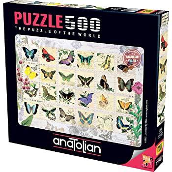 500ピース ジグソーパズル Perre Group 蝶の切手 Stewart: Butterfly Stamps 33×48cm 13583