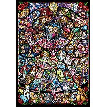 1000ピース ジグソーパズル ディズニー ディズニー ピクサー ヒロインコレクション ステンドグラス【ピュアホワイト】(51x73.5cm)