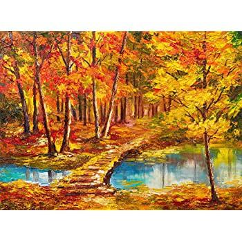 Bgraamiens パズル 秋の森 1000ピース 油絵 自然の風景シリーズ アートジグソーパズル