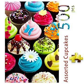 500ピース 詰め合わせ カップケーキジグソーパズル 大人と子供用 ビッグサイズ ギフト 家族時間