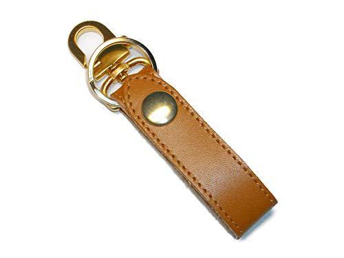 キーホルダー ベルトループ おしゃれ 革 レザー ブランド メンズ キーリング ゴールド 日本製 キャメル