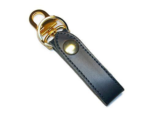 キーホルダー ベルトループ おしゃれ 革 レザー ブランド メンズ キーリング ゴールド 日本製 紺色 ネイビー