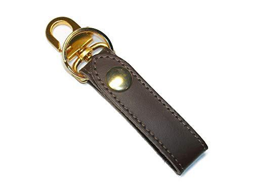 キーホルダー ベルトループ おしゃれ 革 レザー ブランド メンズ キーリング ゴールド 日本製 茶色 チョコブラウン