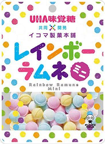 6袋セット【UHA味覚糖 × イコマ製菓本舗 レインボーラムネ ミニ 40G×6袋】 送料無料