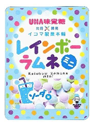 6袋セット【UHA味覚糖 × イコマ製菓本舗 レインボーラムネ ミニ ソーダ味 40G×6袋】 送料無料