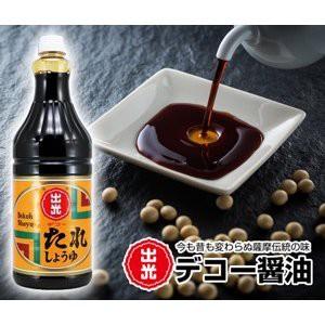 迫醸造 出光 デコー醤油 たれしょうゆ 1800ml ペット