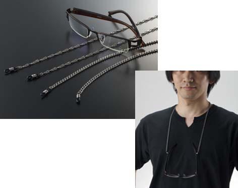 純チタン眼鏡チェーン(喜平チェーン)