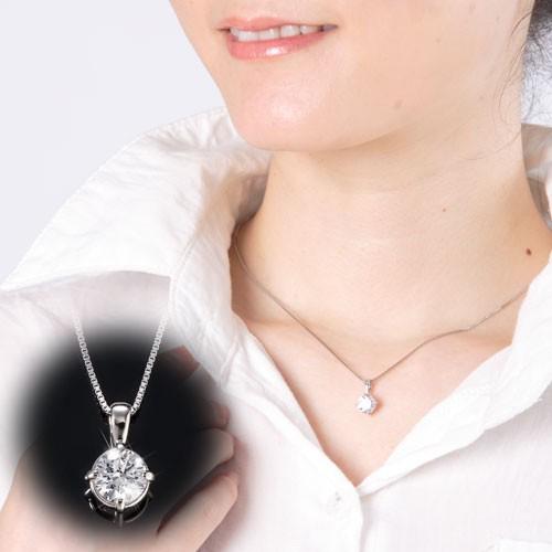 2.2ctCZネックレス [スワロフスキー ジルコニア 最高クラス 高級 ダイヤモンド 婚約指輪 光学スコープ シルバー Fantastic jewelry レデ