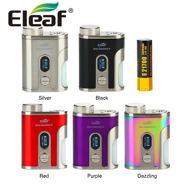 VAPE MOD 本体 電子タバコ Eleaf iStick Pico Squeeze 2 100W TC 21700バッテリー付 アイスティック ピコ スコンカー