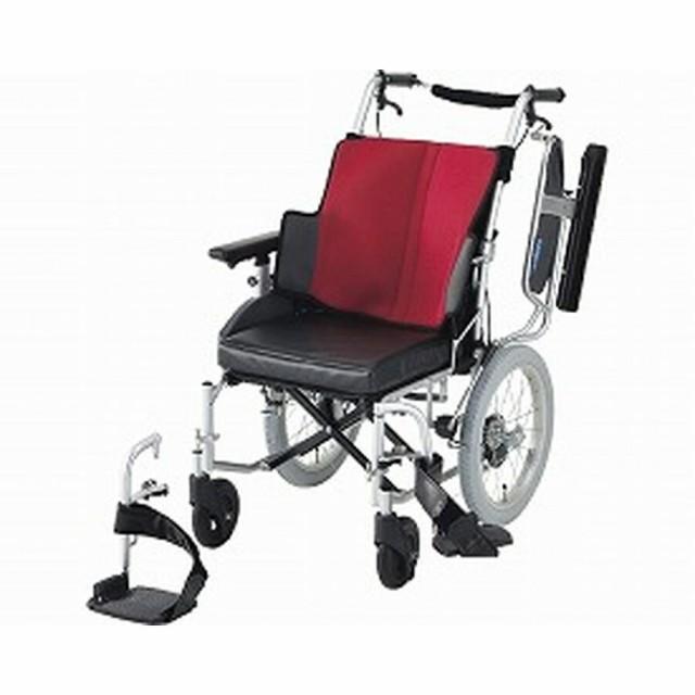車椅子(介助式) 座王 NAH-521W 座幅42cm ワインレッド<日進医療器>
