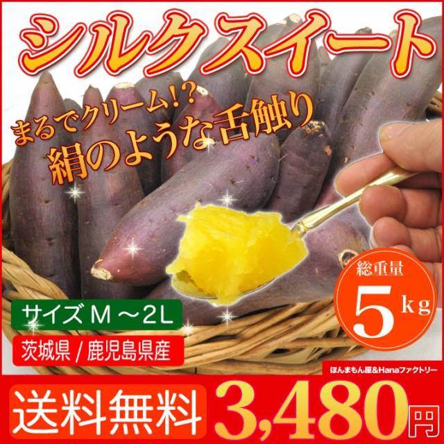 送料無料 シルクスイート 5kg 絹のような舌触りと強い甘みが特徴の さつまいも