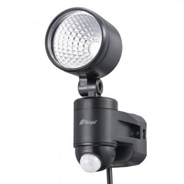 OHM オーム電機 人感センサーライト コンセント式 1灯 LS-A145A-K ブラック