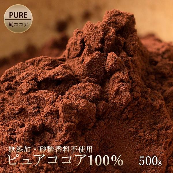 ココアパウダー ピュアココアパウダー 500g 純ココアパウダー ポリフェノール チョコレート カカオ ココア 製菓・製パン材料