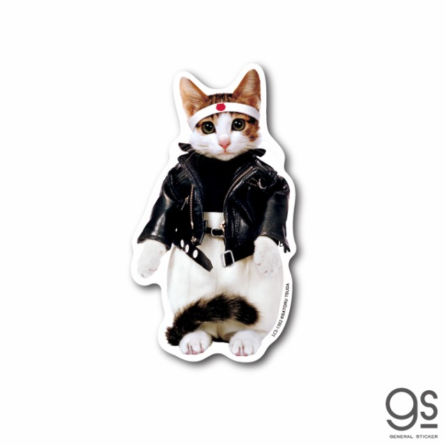 なめ猫 ライダース01 キャラクターステッカー 懐かし 80年代 なめ猫グッズ LCS1302 gs 公式 ステッカー