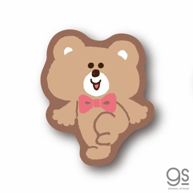 SWIMMER クマ ミニステッカー キャラクターステッカー スイマー ブランド イラスト かわいい パステル レトロ 雑貨 SWM013 公式グッズ