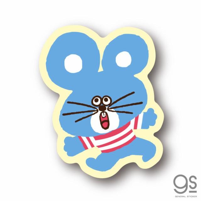 SWIMMER ネズミ ボーダー ミニステッカー キャラクターステッカー スイマー イラスト かわいい パステル レトロ 雑貨 SWM017 公式