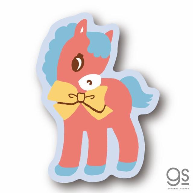 SWIMMER ウマ リボン ミニステッカー キャラクターステッカー スイマー ブランド イラスト かわいい パステル レトロ 雑貨 SWM018 公式