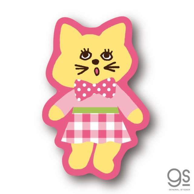 SWIMMER ネコ ピンク ミニステッカー キャラクターステッカー スイマー ブランド イラスト かわいい パステル レトロ 雑貨 SWM022 公式