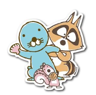 ぼのぼのステッカー ひょっこり ぼのぼの BONOBONO LCS962 アニメ キャラクター グッズ