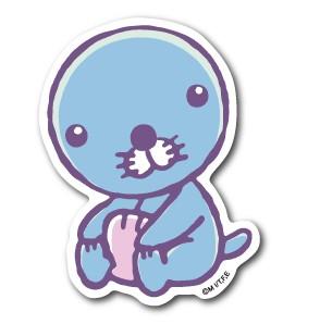 ぼのちゃんステッカー おすわり ぼのぼの BONOBONO LCS966 アニメ キャラクター グッズ