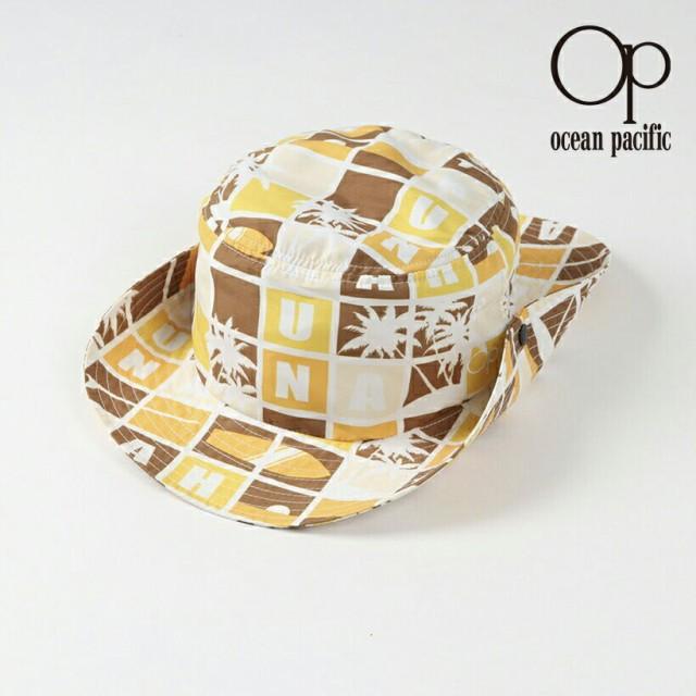 オーシャンパシフィック Ocean Pacific OP 日本正規品 メンズ サーフハット ブラウン 海 アウトドア 柄 模様