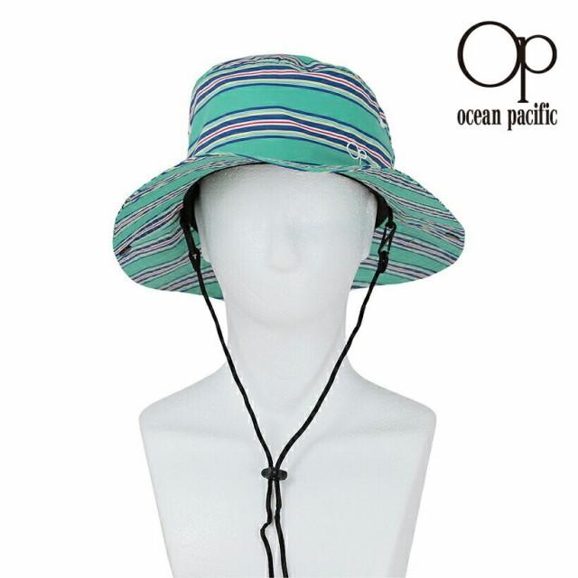 オーシャンパシフィック Ocean Pacific OP 日本正規品 メンズ サーフハット グリーン ボーダー 柄 海 プール