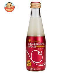 送料無料 青森県りんごジュース シャイニー スパークリングアップル マイルド 200ml瓶×24本入
