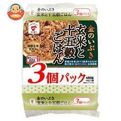 送料無料 たいまつ食品 金のいぶき 玄米と十五穀ごはん 3個パック (160g×3個)×8袋入